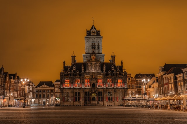 evening show in the Delft old city hall