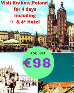 3 nights in Krakow just for 98 euros